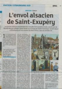 Dernières Nouvelles d'Alsace - bande dessinée Envols - octobre 2013